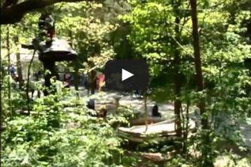 Video Seilbahnfahrt Parcours 6 im Kletterwald Binz Prora