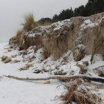 Abrisskante Düne nach Sturmflut in Prora