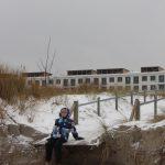 Kaputter Abgang zum Proraer Strand nach Sturmflut