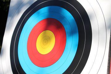 Zielscheibe im Bogensport