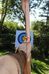Zielscheibe aus Schützenperspektive im Bogensport
